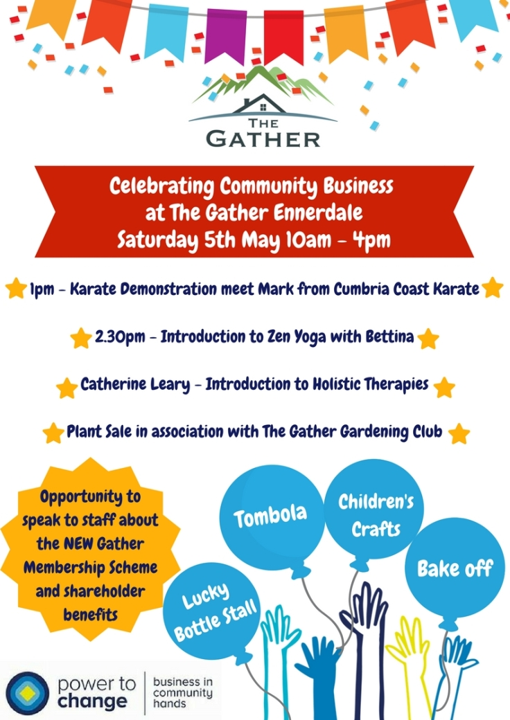 Community Business Open Dayat The Gather EnnerdaleSaturday 5th May10am - 4pm
